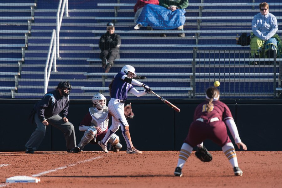 Sabrina Rabin hits the ball. Rabin leads off a powerful Wildcats batting order that will have its hands' full at the NCAA Regionals this weekend.