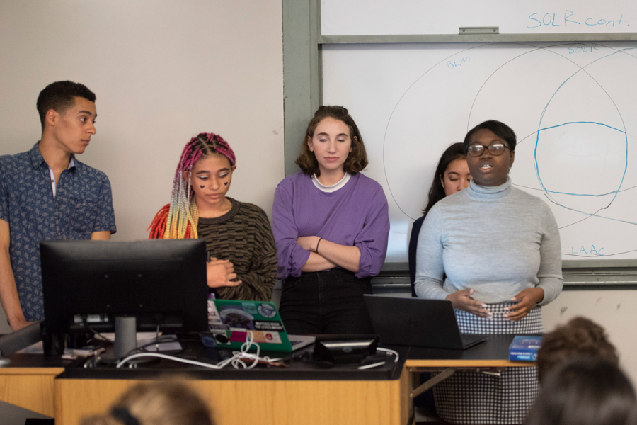 Student activists discuss strategies and progress at a Monday event in University Hall. The activists stressed the importance of forming supportive relationships between activist groups.