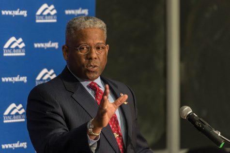 Former congressman Allen West speaks at College Republicans event