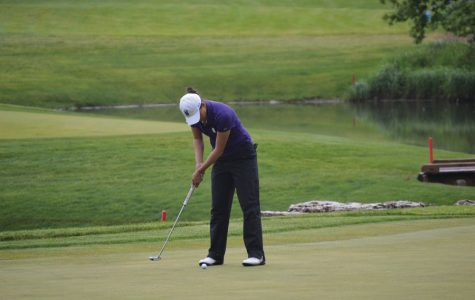 Hannah Kim hits a putt. Kim will look to propel NU to a national championship in Oklahoma.