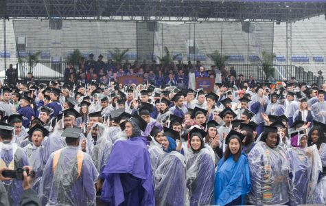 Commencement Notebook: Rainy weather doesn't deter graduation ceremony