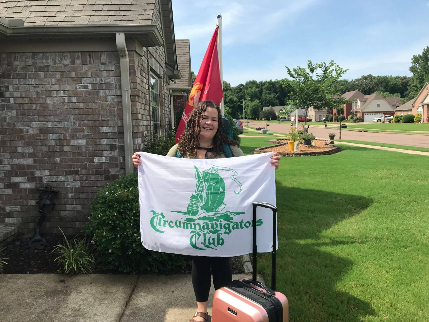 Hannah Whitehouse prepares to depart on her summer journey. Funded by the Circumnavigators Travel-Study Grant, Whitehouse will research El Sistema-inspired music education programs in six different countries.