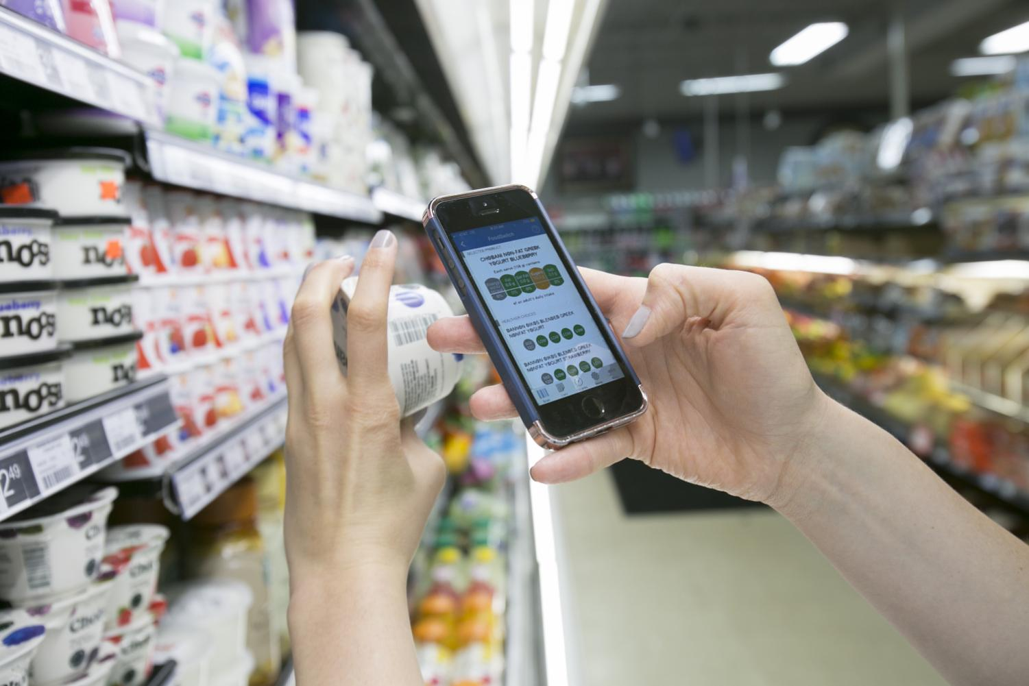 After users take a picture of a food nutrition label, FoodSwitch's Traffic Light Labelling Mode allows consumers to compare the food's contents to daily recommended amounts of calories, fat, sodium and other ingredients.