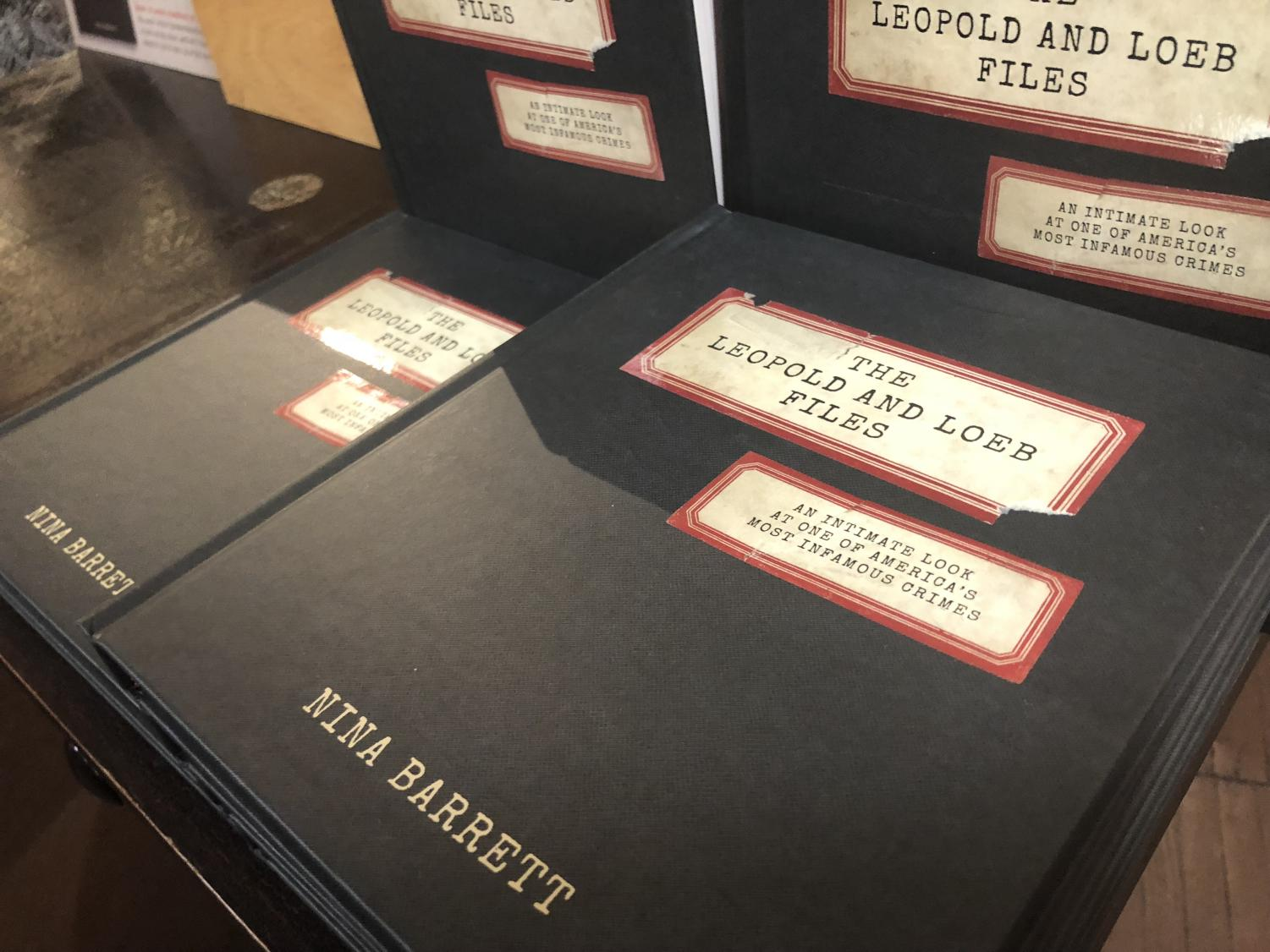 """The Leopold and Loeb Files,"" by NU alumna and Evanston business owner Nina Barrett. Barrett released the book Tuesday at a book launch at Bookends & Beginnings."