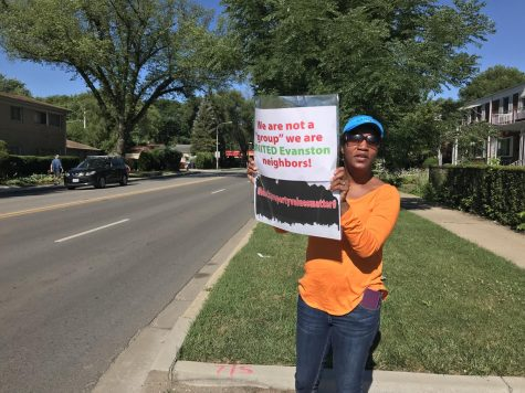 Evanston residents protest Dempster Street housing project