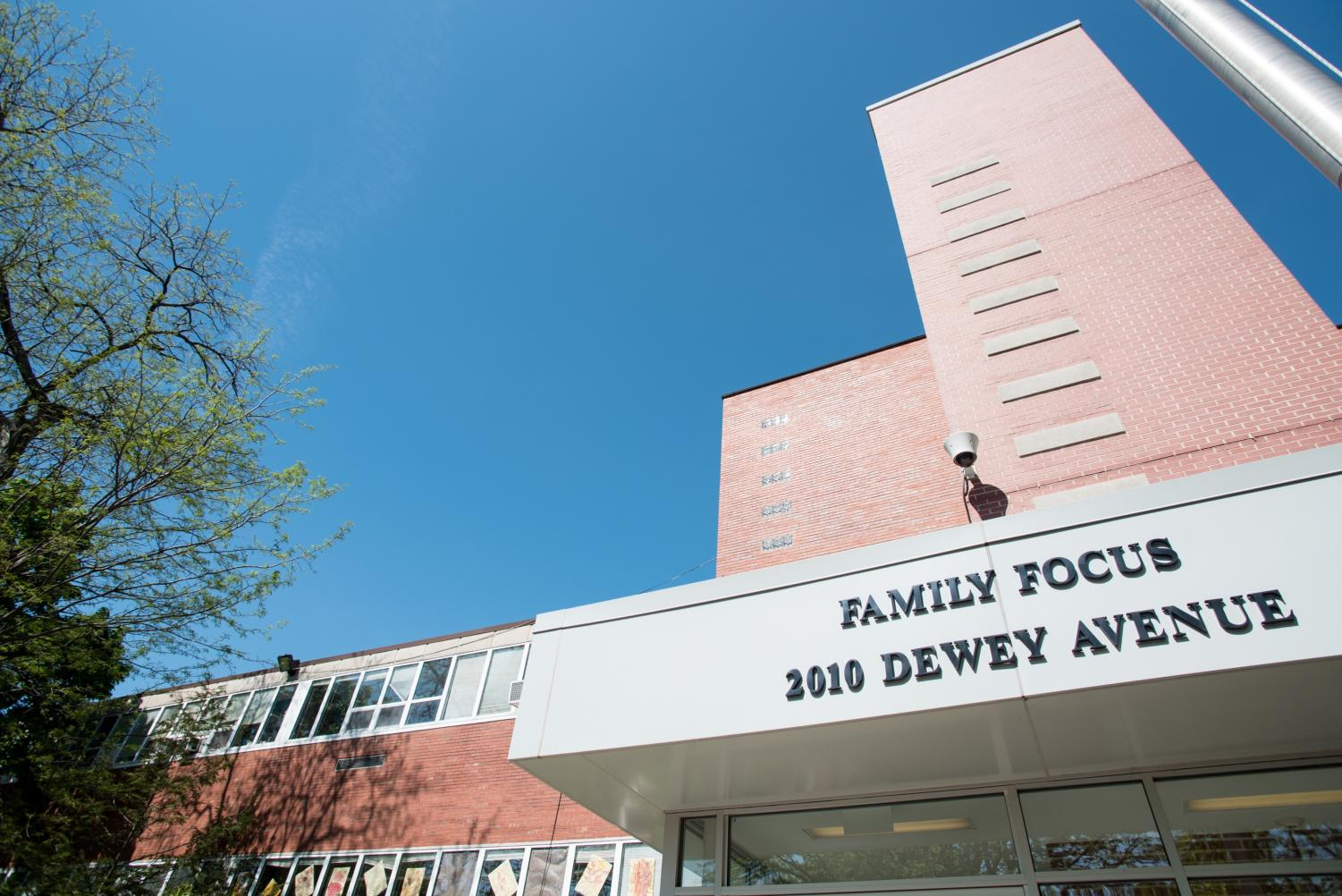 Family Focus, 2010 Dewey Ave. The Evanston Preservation Commission voted Tuesday to designate the Family Focus building, which previously housed the Foster School, as an Evanston landmark.