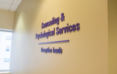 Counseling and Psychological Services, located on the second floor of Searle Hall.