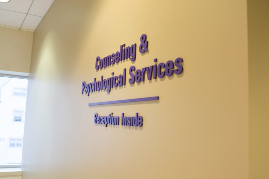 Counseling+and+Psychological+Services%2C+located+on+the+second+floor+of+Searle+Hall.+