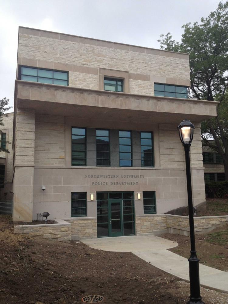 The University Police headquarters, 1201 Davis St. Northwestern and Evanston have agreed to share the Emergency Operations center located in the the UP building.