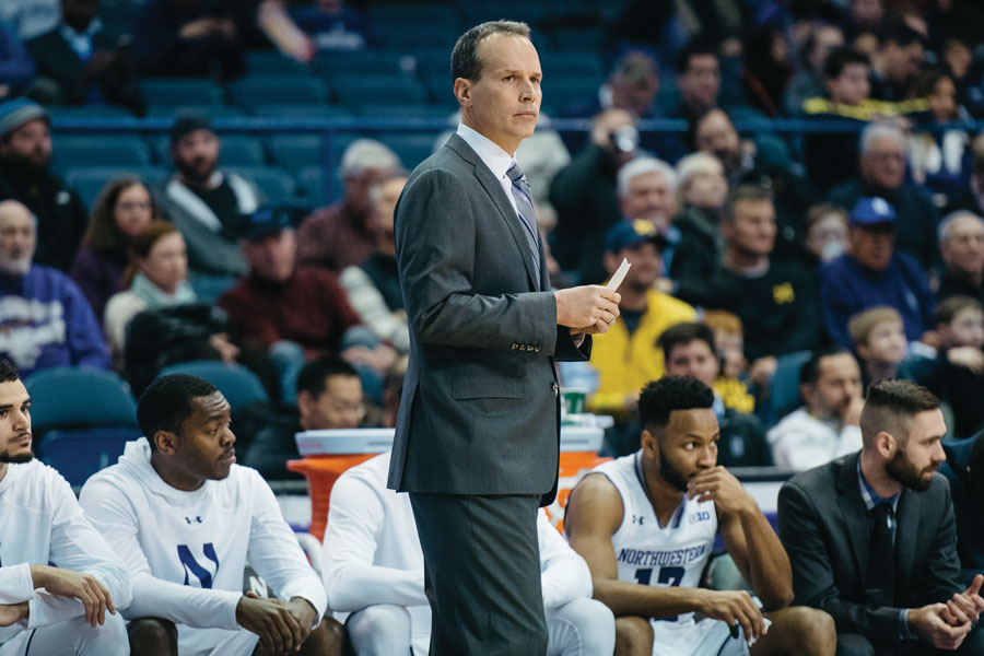 Chris Collins observes from the sidelines. Collins and the Wildcats begin he 2018-19 season on Nov. 2 with an exhibition against McKendree.