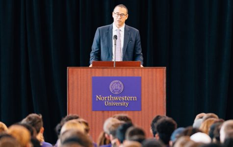 Provost Jonathan Holloway speaking this month to incoming students, the first class to include 20 percent of students who are Pell Grant eligible. Holloway and President Morton Schapiro announced the update in a welcome email to students.