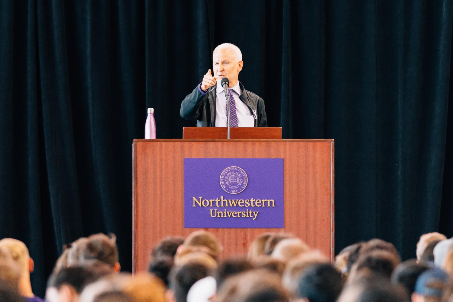 Top administrators offered advice to students during Sunday's convocation. Schapiro delivered a notably less emotional defense of safe spaces, and Holloway discussed the controversial legacy of Thomas Jefferson.