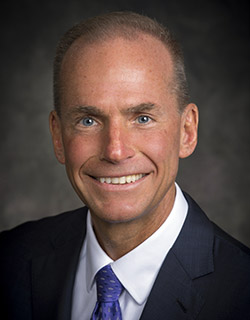 Dennis Muilenburg, the chief executive officer of Boeing, is the only of seven new trustees who did not graduate from Northwestern. The six others come from backgrounds in finance and consulting, among others.