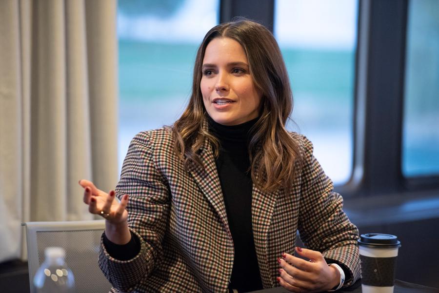 Sophia Bush speaks at a Planned Parenthood Generation Action NU event. The actress and activist spoke to attendees about the importance of their voting power.