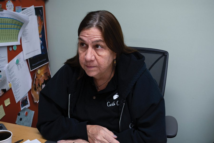 Susan Trieschmann in her office. Since founding Curt's Cafe in 2012, she reflected on her success and challenges.