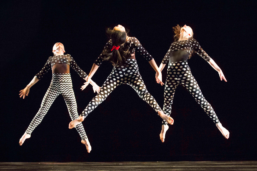 Dancers at Dance Center Evanston perform a routine. The studio has grown substantially in the past 25 years.