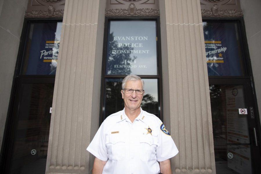 Evanston police chief Richard Eddington. Eddington said he will be retiring at the end of December.