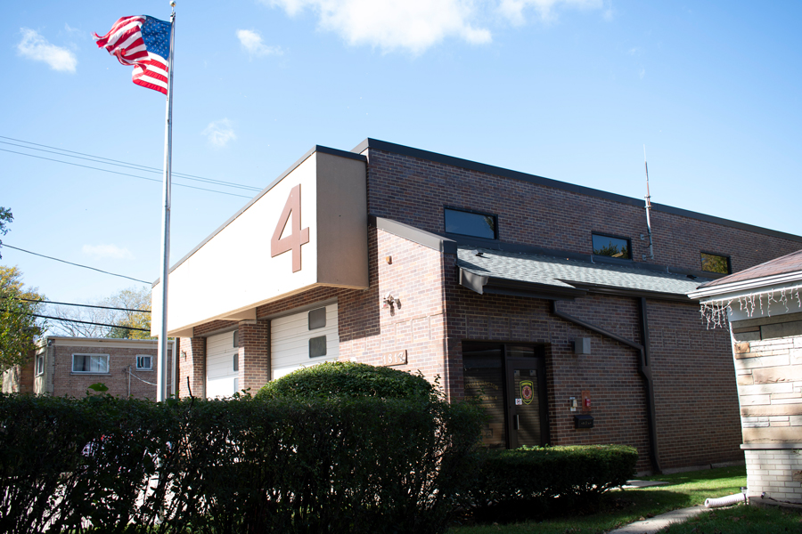 Evanston Fire Department Station 4, 1817 Washington St. Residents are concerned shutting down the station would mean increased response time to emergencies.