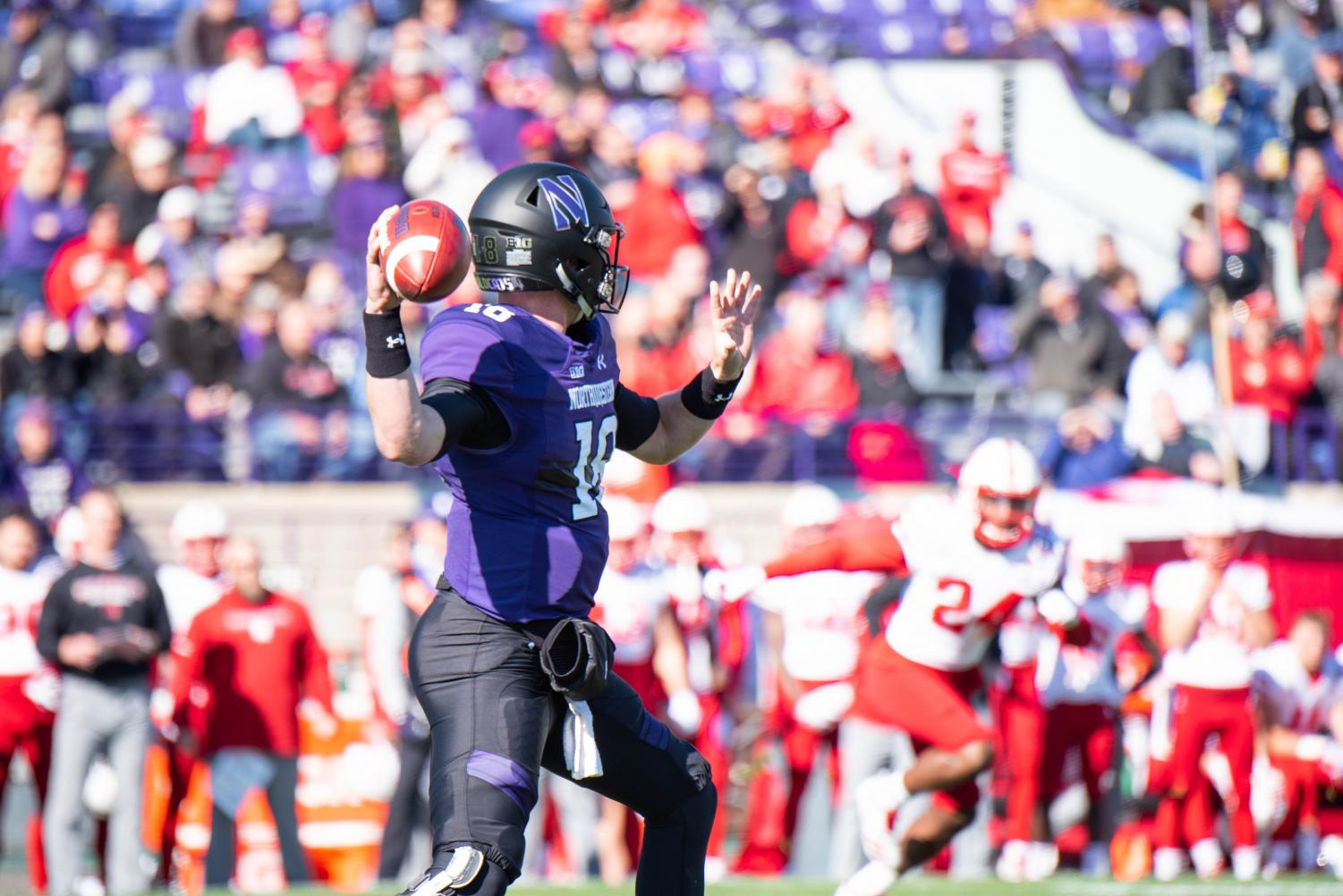Clayton Thorson fires a pass. The senior quarterback tallied a career-high 455 yards in Saturday's win.