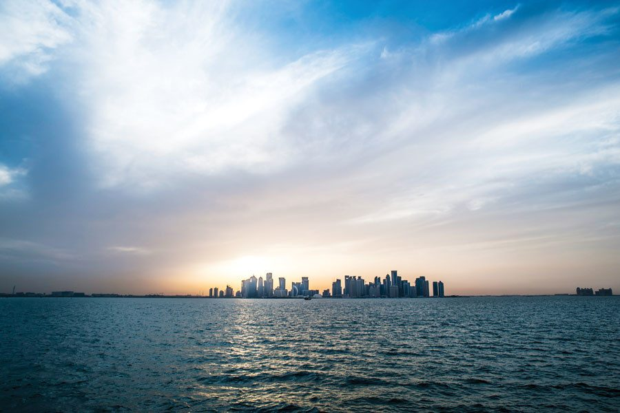 The skyline of Doha, Qatar, where Northwestern and five other U.S. universities have campuses in Education City.