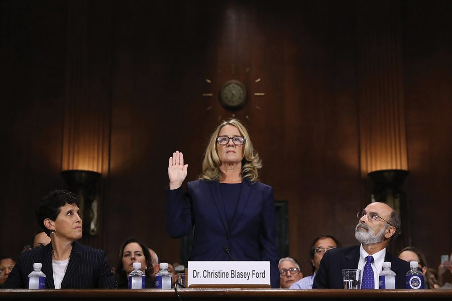 Dr.+Christine+Blasey+Ford%2C+who+testified+last+week+about+sexual+assault+allegations+levied+at+President+Donald+Trump%E2%80%99s+Supreme+Court+nominee.+Northwestern+students+have+since+been+coming+forward+and+reporting+past+sexual+misconduct+incidents+to+the+Office+of+Equity.+%0A