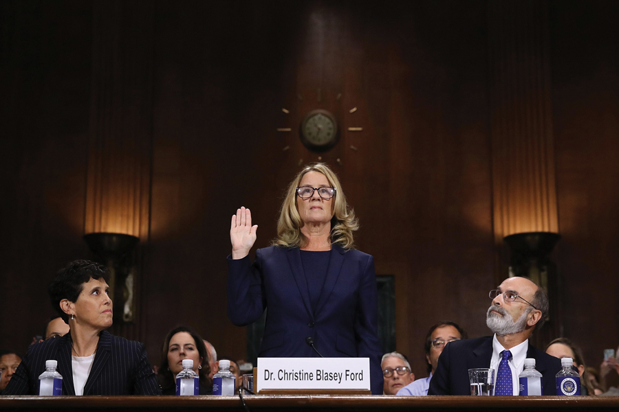 Dr. Christine Blasey Ford, who testified last week about sexual assault allegations levied at President Donald Trump's Supreme Court nominee. Northwestern students have since been coming forward and reporting past sexual misconduct incidents to the Office of Equity.