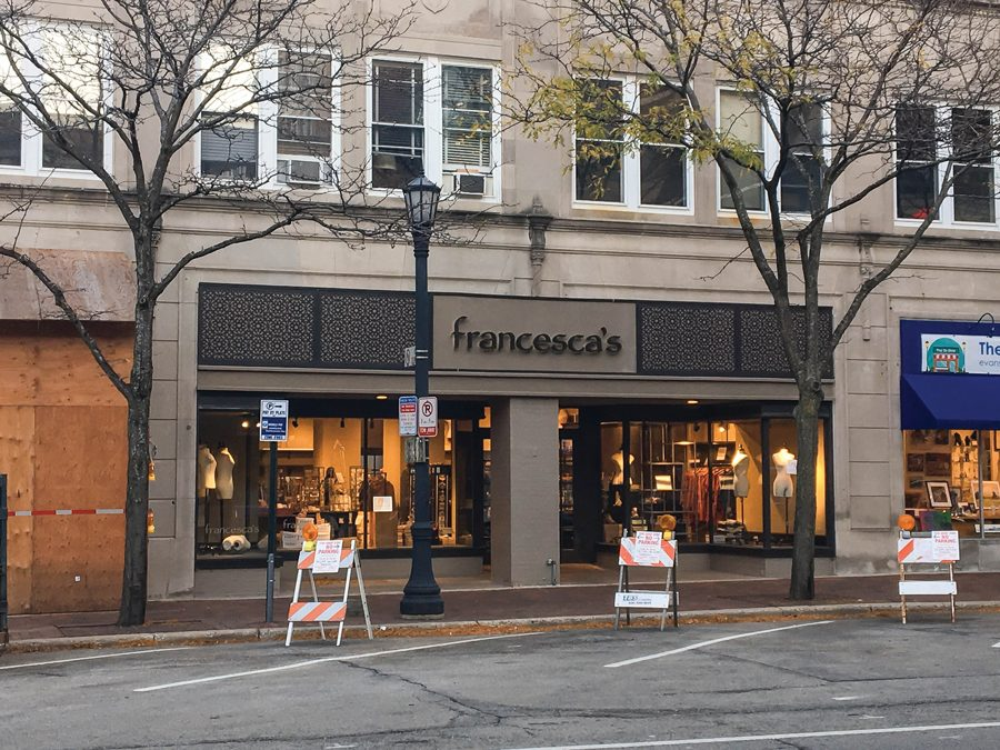 Francesca's, 1631 Sherman Ave. The store will be closing its Evanston location on Nov. 3.