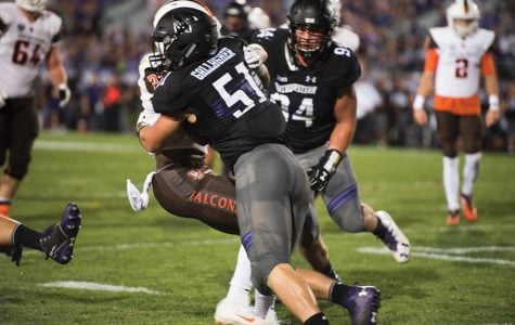 Football: Blake Gallagher thriving in larger role, leading Northwestern in tackles