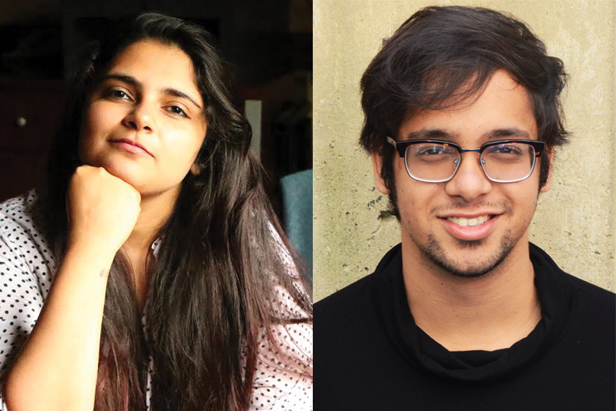 Radio, Television, and Film graduate student Aalisha Sheth and alumnus Priyankar Patra. Sheth and Patra's original plays will premiere on Thursday as a part of the New World Play Festival.
