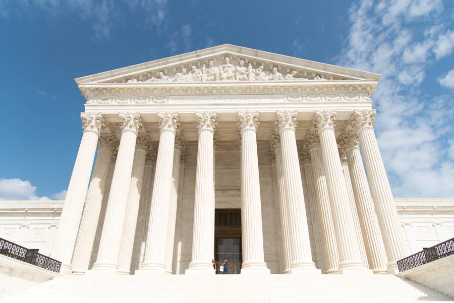 The steps of the Supreme Court. In late June, the Court overturned an Illinois law obliging public sector workers to pay a government union in order to work.