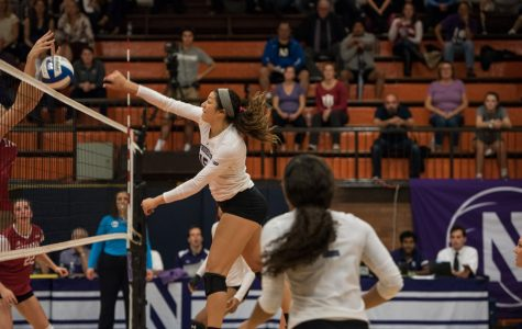 Volleyball: NU falls to Nebraska, loses in five sets to Iowa