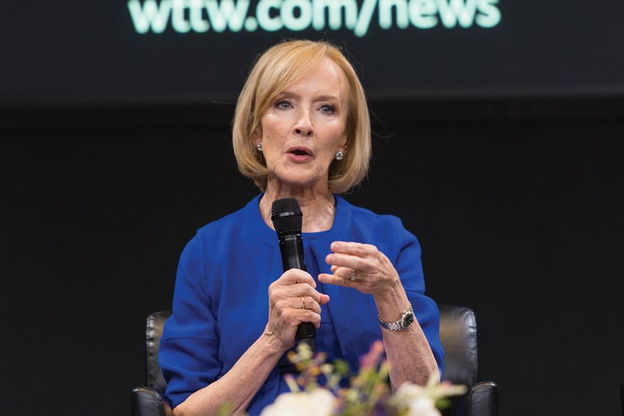 PBS+NewsHour+anchor+Judy+Woodruff.+Woodruff+discussed+issues+of+gender+equality+in+the+newsroom+at+her+Tuesday+event.+