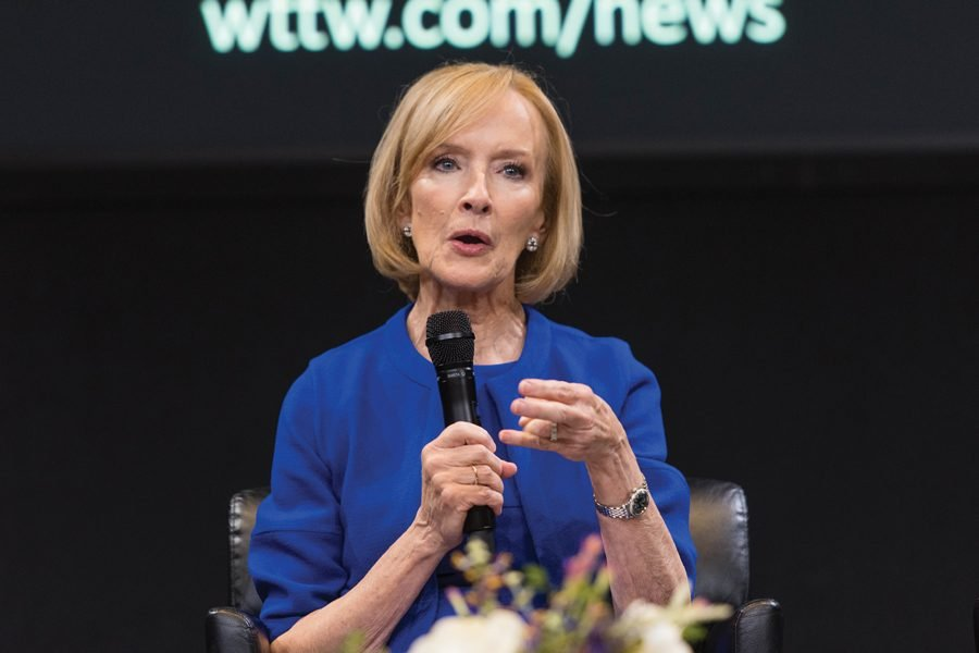 PBS NewsHour anchor Judy Woodruff. Woodruff discussed issues of gender equality in the newsroom at her Tuesday event.