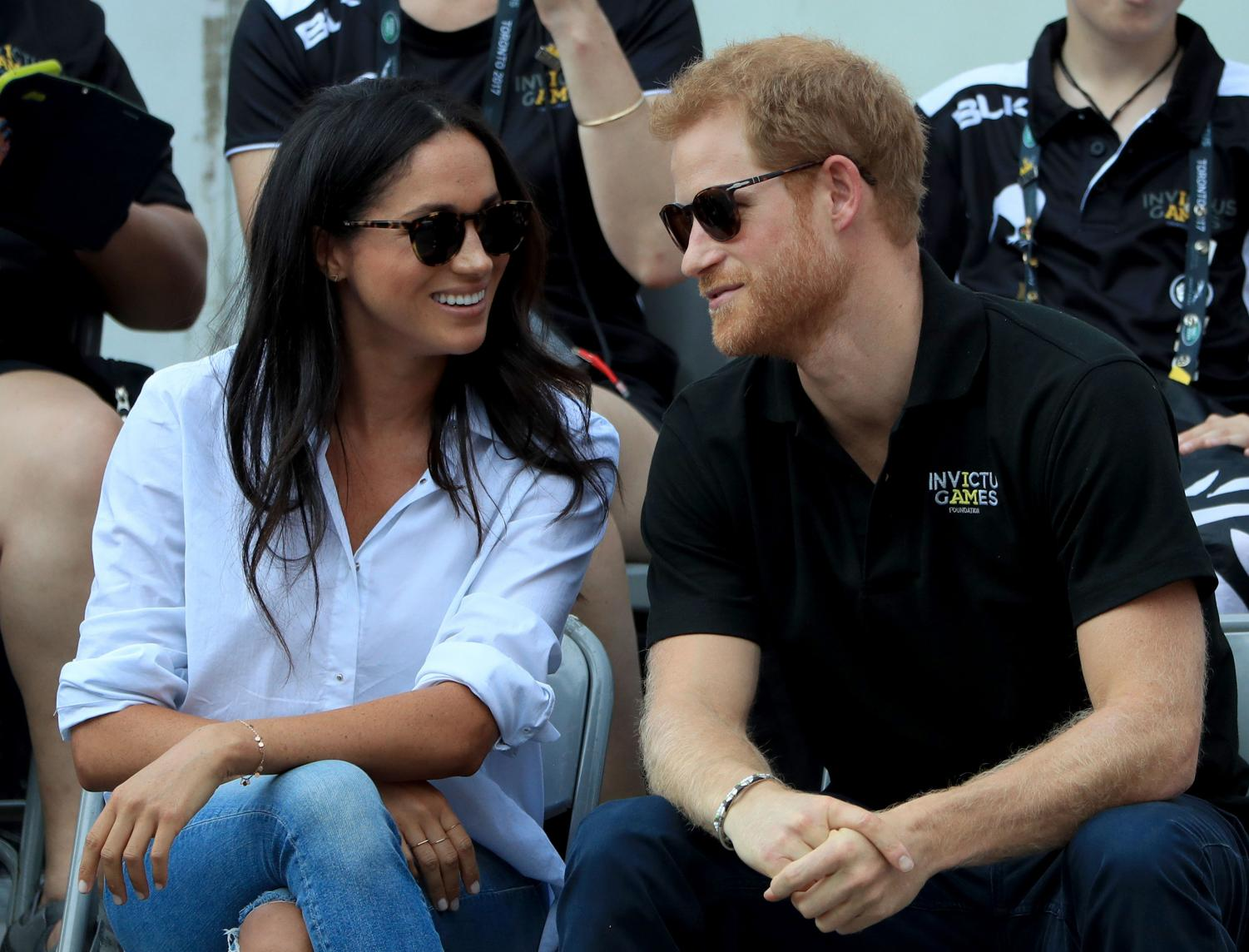 Prince Harry and Meghan Markle watch Wheelchair Tennis at the 2017 Invictus Games in Toronto, Canada on Monday, September 25, 2017. Just over a year later, the two would announce they're expecting their first child.