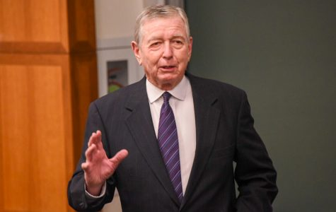 John Ashcroft speaks about liberty and security in the modern age at NU event
