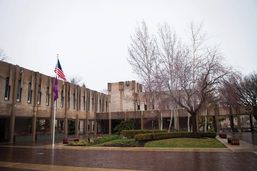 Rebecca Crown Center. Northwestern is reducing its custodial services across the University. Custodial staff will stop disposing office trash and recycling daily and instead make a weekly visit.