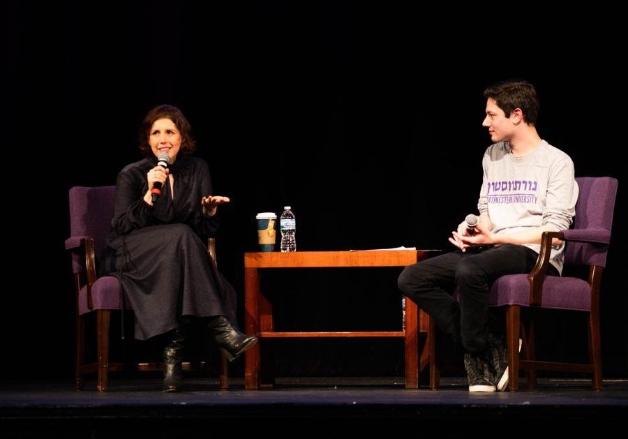 Comedian Vanessa Bayer at Hillel's Annual Speaker Event on Tuesday. Bayer discussed her work on SNL and growing up Jewish.