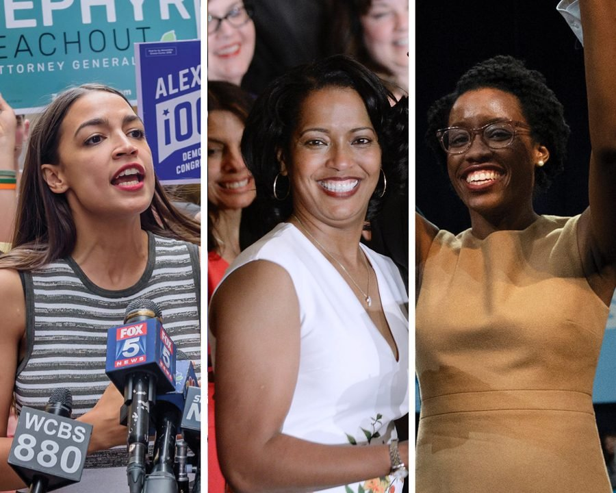 Alexandria Ocasio-Cortez, Jahana Hayes and Lauren Underwood (left to right). Hayes and Underwood — who are both black — and Ocasio-Cortez who is Latina were among the myriad candidates of color who won office on November 6.