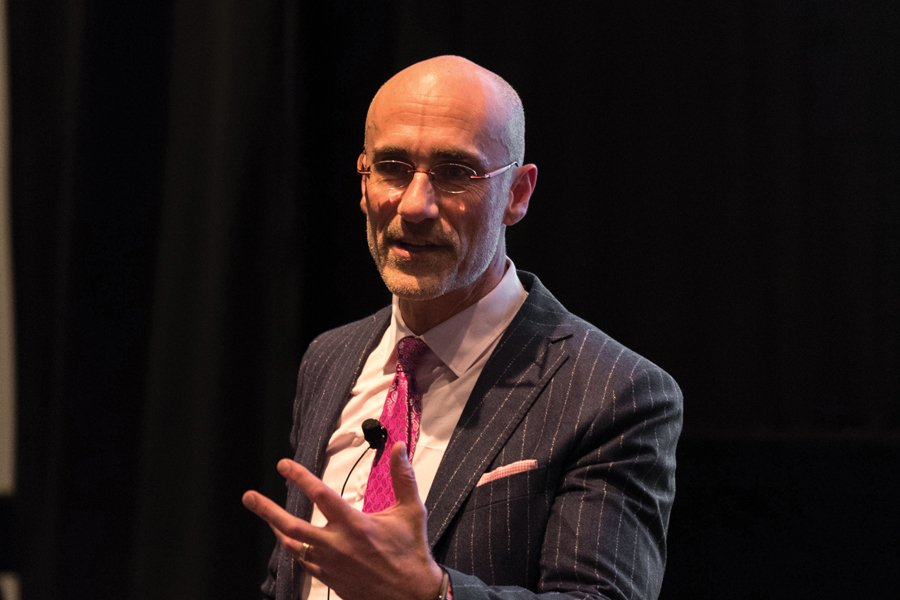 Arthur Brooks speaks at Institute for Policy Research event. The American Enterprise Institute president discussed how to build relationships with people of different political affiliations in a tense and divided time.