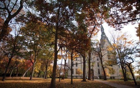 "University Hall on the Evanston campus. Northwestern President Morton Schapiro said the school has ""no plans to cancel Spring Break"