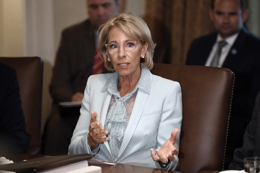 Education Secretary Betsy DeVos and the Republican administration have launched an effort to bolster the rights of the accused. A leaked draft of Title IX rules will allow students accused of sexual assault to cross-examine their accusers.