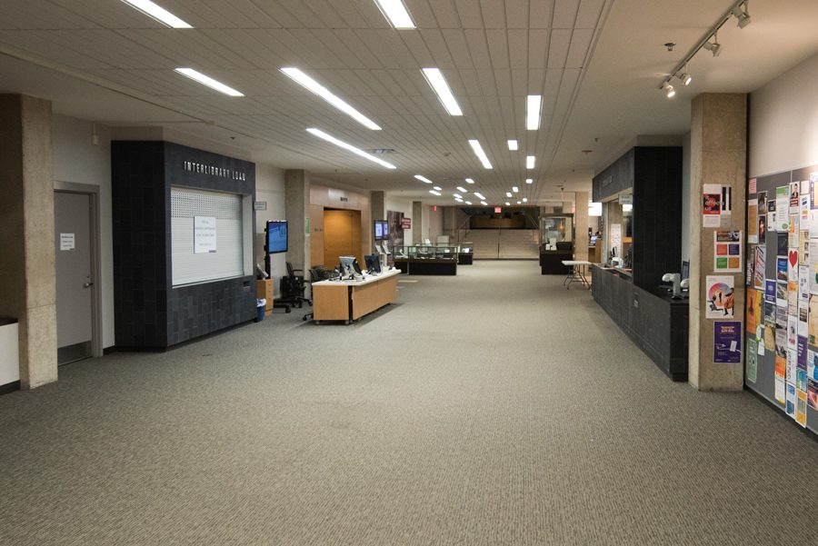 Main Library. Students are competing to redesign a project room.