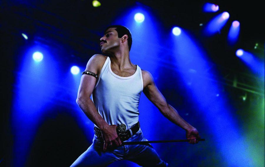Rami Malek plays Freddie Mercury in