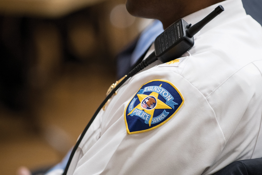 An Evanston Police Department officer. EPD received a report recommending staffing reviews and increased use of technology to increase department efficiency.