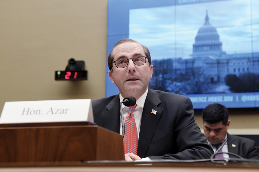 Health and Human Services Secretary Alex Azar is leading the effort to narrow the legal definition of gender. The Wall Street Journal reported earlier this week that those efforts won't make it into revised Title IX rules.
