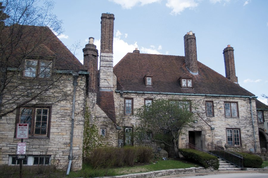 The Harley Clarke Mansion. Voters will weigh in on the future of the building in an advisory referendum Tuesday.