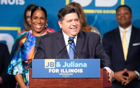 J.B. Pritzker speaks at his victory party at the Marriott Marquis hotel in downtown Chicago. Pritzker defeated incumbent Bruce Rauner in the gubernatorial race Tuesday.
