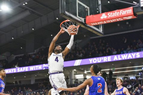 Men's Basketball: Vic Law lifts sloppy Wildcats past American in second game of season