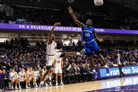 Men's Basketball: Now in a starring role, Law helps Northwestern open season with a win