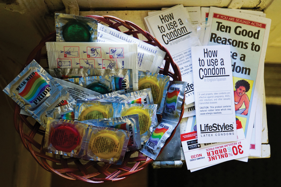 Condoms in a basket. CARE provides free condoms as well as plans content for The Student Body, a True Northwestern Dialogue about sex and consent.